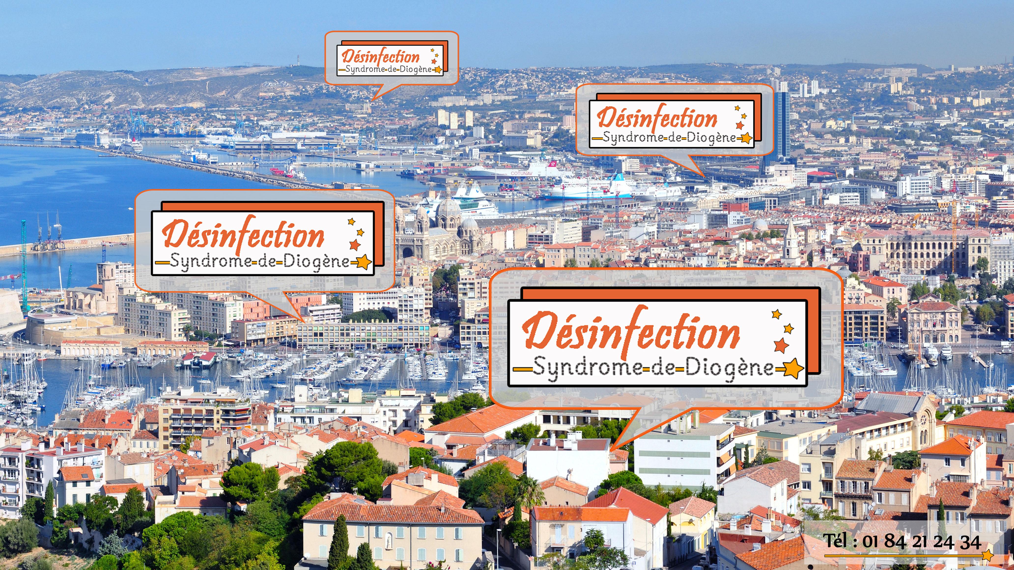 Notre entreprise Désinfection Syndrome Diogène intervient à Marseille et dans la région PACA pour toutes vos demandes de nettoyage et de désencombrement.