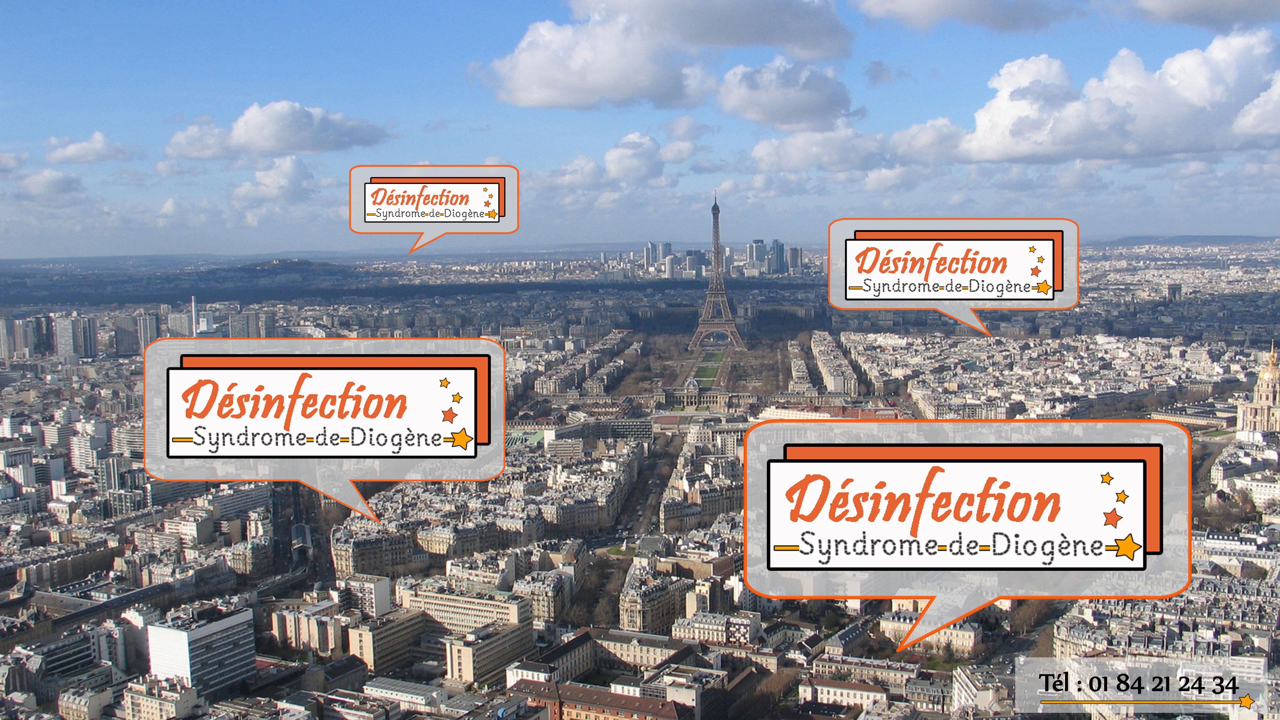 Désinfection Syndrome de Diogène intervient à Paris pour toutes vos demandes de désinfection et de nettoyage de votre logement parisien.