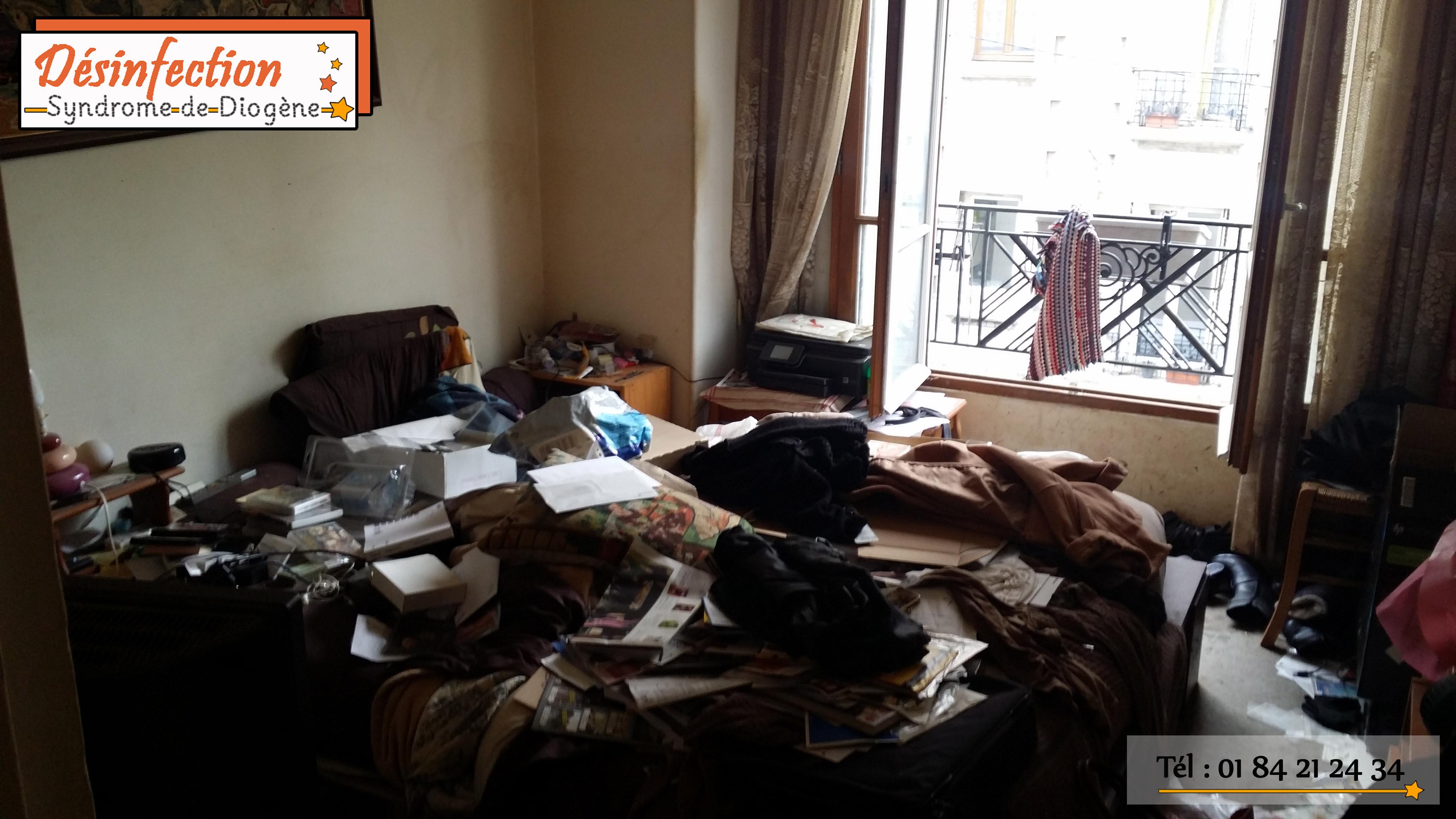 Entreprise pour débarrasser un logement d'une personne atteinte d'un syndrome de Diogène.
